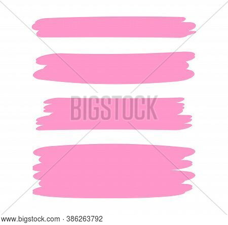 Pink Stripes Brush Paint For Scribble Marker, Brushstroke Painting Pink Pastel Soft Color, Pink Wate