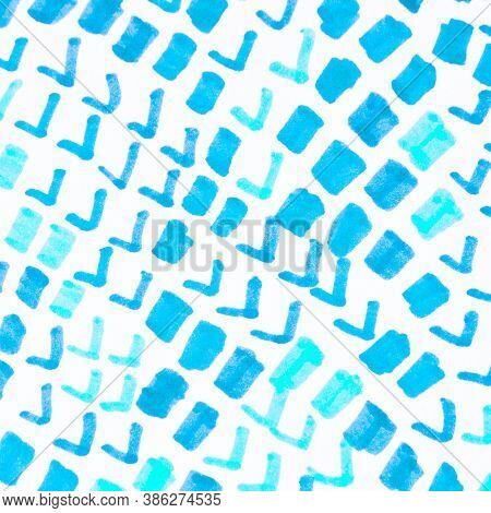 Cobra Pattern. Aquarelle Grunge Snake Texture. Blue Cobra Or Phyton Animal Print. Trendy Safari Wall