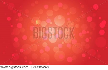 Red Bokeh Background With Soft Blur Bokeh Light.
