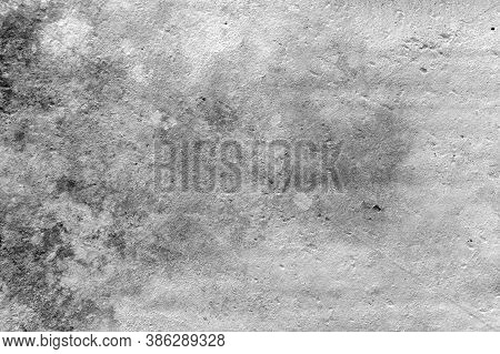 Concrete Grunge White Wall With Traces Of Ingrained Dirt And Soot Background