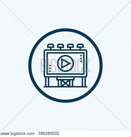 Advertising Icon Isolated On White Background From Advertising Collection. Advertising Icon Trendy A