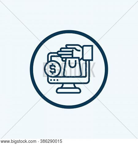 Online Store Icon Isolated On White Background From Online Shopping Collection. Online Store Icon Tr