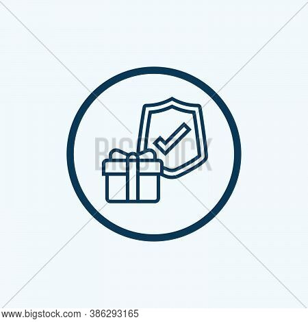 Guarantee Icon Isolated On White Background From Survey Collection. Guarantee Icon Trendy And Modern