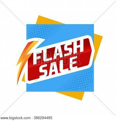 Flash Sale Logo Sale Offers Label Vector, Flash Sale Discount Vector