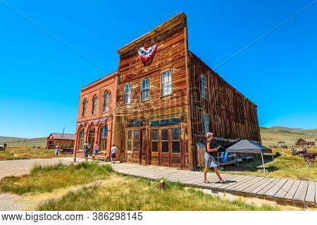 Bodie State Historic Park, California, United States Of America - August 12, 2016: Old Dechambeau Ho