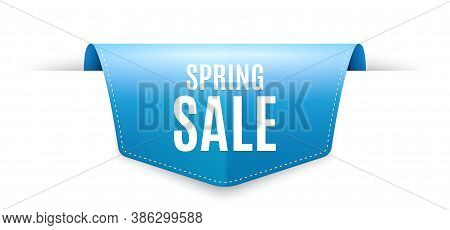Spring Sale. Ribbon Label Tag. Special Offer Price Sign. Advertising Discounts Symbol. Infographics