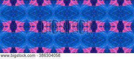 Watercolor Crumpled Texture. Artistic Ethnic Tile Design. Ethnic Ornament. Watercolour Tie Dye Backg