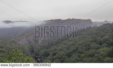 Cloudy Morning In The Belgian Ardennes, Belgium.