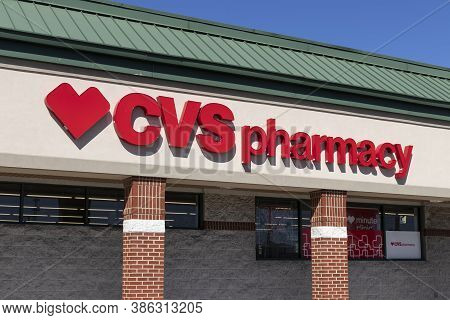 Avon - Circa September 2020: Cvs Pharmacy Retail Location. Cvs Is The Largest Pharmacy Chain In The