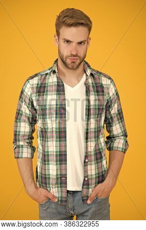 Stunning Confidence. Beauty Standards. Masculine Outfits. Stylish Guy In Fashionable Clothing. Hands