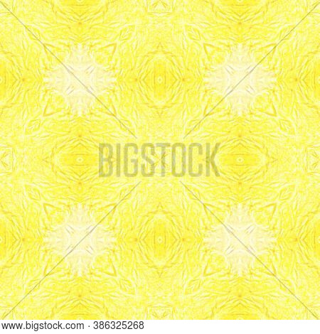 Crumpled Paper Texture. Watercolour Tie Dye Kaleidoscope. Bohemian Ornament. Artistic Ethnic Tile De