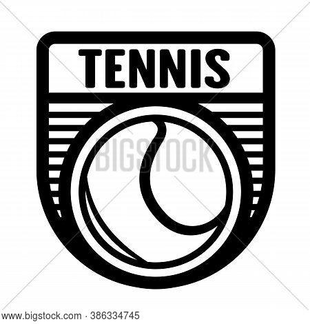 Tennis Sports Logo Template, Vector Art Graphic. Ideal For Tennis Club Logo, T-shirt Design.
