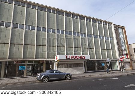 Weston-super-mare, Uk - February 14, 2012: The Former T J Hughes Department Store. The Building Was
