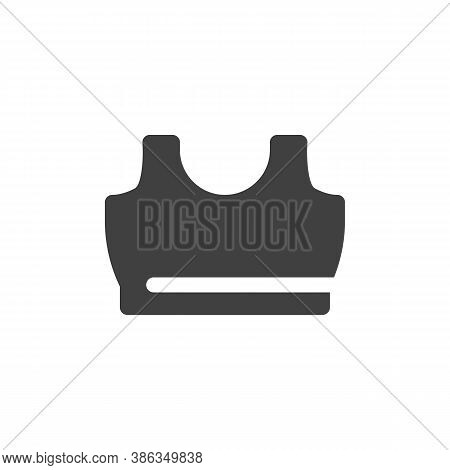 Fitness Bra Vector Icon. Filled Flat Sign For Mobile Concept And Web Design. Sports Bra Glyph Icon.