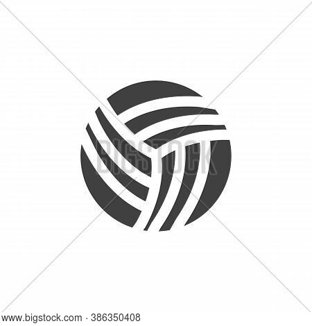 Volleyball Ball Vector Icon. Filled Flat Sign For Mobile Concept And Web Design. Volleyball Sport Gl