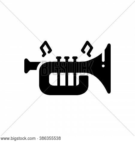 Black Solid Icon For Instrument Trumpet Musical-instrument Entertainment Acoustic Classical Melody M