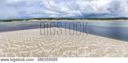 Beautiful Beach In Sheskinmore Bay Between Ardara And Portnoo In Donegal - Ireland