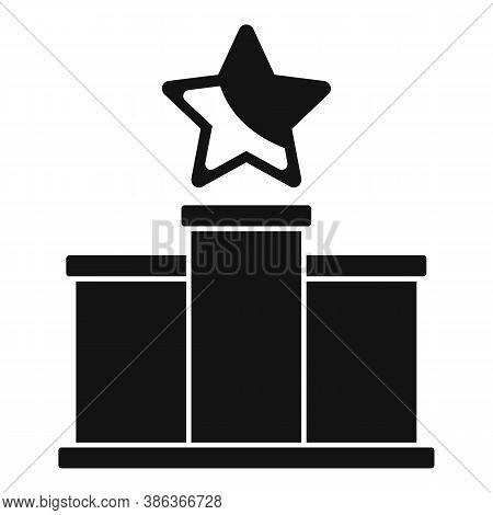 Podium Reputation Icon. Simple Illustration Of Podium Reputation Vector Icon For Web Design Isolated