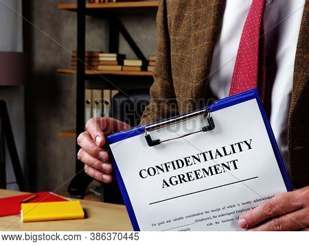 The Chief Offers Confidentiality Agreement For Signing.