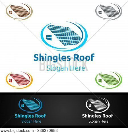 Shingles Roofing Logo For Property Roof Real Estate Or Handyman Architecture