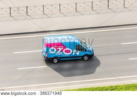 Mini Van Truck For Delivery To Points Of Delivery Of The Online Store Ozon.ru Rushing Rides Highway