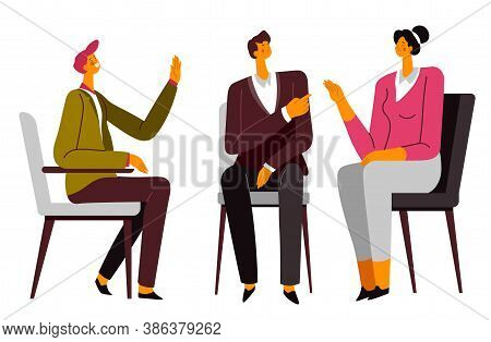 Psychotherapy Of Couple, Wife And Husband On Counseling