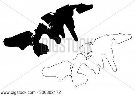 Port Louis City (republic Of Mauritius) Map Vector Illustration, Scribble Sketch City Of Port Louis