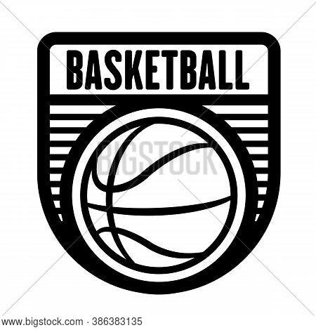 Basketball Sports Logo Template, Vector Art Graphic. Ideal For Basketball Team Logo, T-shirt Design.