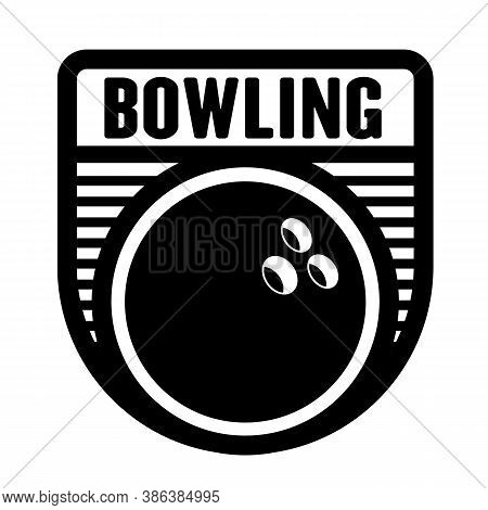 Bowling Logo Template, Vector Art Graphic. Ideal For Bowling Club And Team Logo, T-shirt Design.