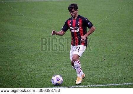 Milano, Italy. 21th September 2020. Italian Serie A. Brahim Diaz  Of Ac Milan In Action   During The