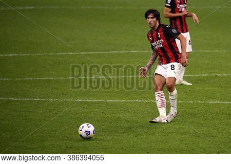 Milano, Italy. 21th September 2020. Italian Serie A. Sandro Tonali  Of Ac Milan  During The  Serie A