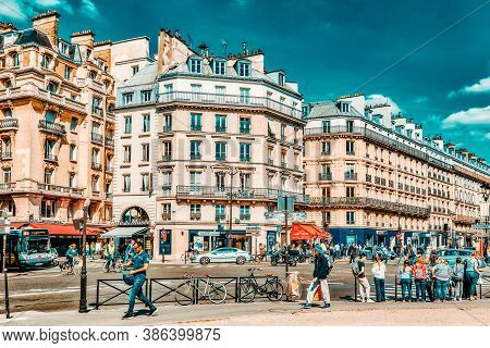 Paris, France - July 06, 2016 : City Views Of One Of The Most Beautiful Cities In The World-paris. S
