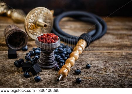 Arabian Stone Hookah Head Filled With Blueberry Flavoured Tobacco