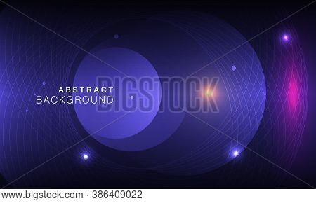 Vector Abstract Space Background With Abstract Elements