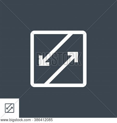 Competing Interests Related Vector Glyph Icon. Isolated On Black Background. Vector Illustration.