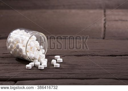 Stevia Sweetener Pills - Stevia Rebaudiana. Text Space
