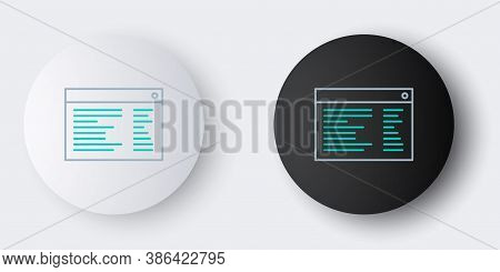 Line Software, Web Developer Programming Code Icon Isolated On Grey Background. Javascript Computer