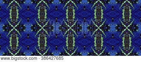 Rainbow Summer Pattern.  Multicolor Natural Ethnic Illustration. Neon Textile Print. Traditional Bac