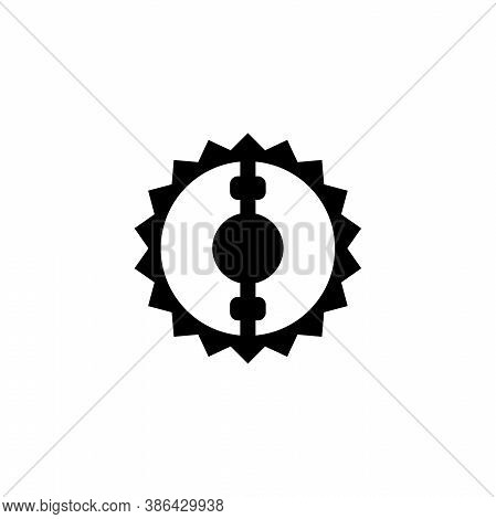 Bear Hunting Trap, Animal Snare, Beartrap. Flat Vector Icon Illustration. Simple Black Symbol On Whi