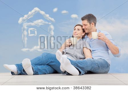 family parents dreaming of new home