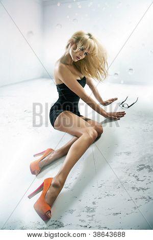Sexy lade wearing high heels