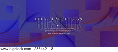 Blue Dynamic Abstract. Fluid Shapes Brochure. 3d Background. Curve Creative Layout. Gradient Vibrant