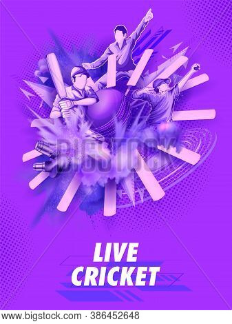 Illustration Of Batsman Player Playing Cricket Championship Sports