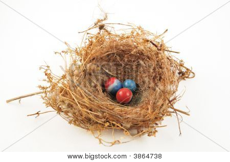 Marbles In Nest