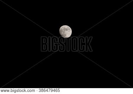 Full Moon On The Dark Night Capture My Dslr Camera.super Moon Over Sky.serenity Nature Background,ou