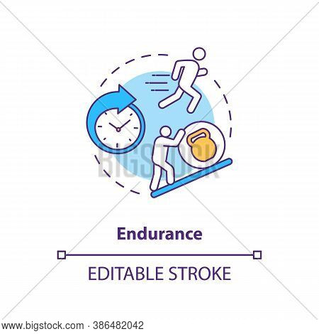 Enhance Endurance Concept Icon. Sports Energy Drinks Idea Thin Line Illustration. Stamina, Persisten