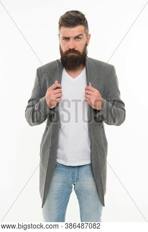 Feeling Comfortable In Natural Fabric Clothes. Simple And Casual. Casual Outfit. Menswear And Fashio
