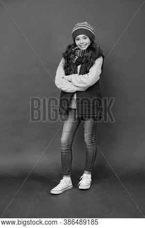 Style Your Look With Casual Outfit. Small Child Wear Casual Style. Little Girl In Casual Clothing Re