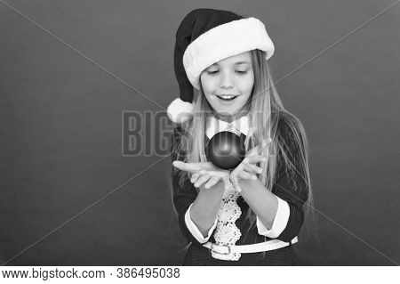 Christmas Ball Decor. Christmas Decorating Ideas For Kids Room. For You. Happy Child Red Costume Hol