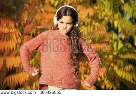 Feel The Power. Enjoy Autumn Day. She Love Nature And Music. School Time Season. Fall Depression Moo